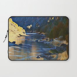 Rio Grande at the John Dunn Bridge on a Winters Day by CheyAnne Sexton Laptop Sleeve