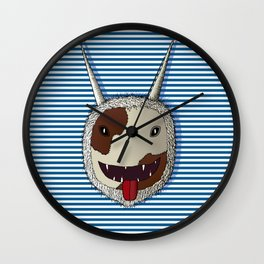 Traditional carnival mask Wall Clock