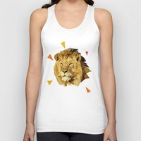 lion Tank Tops featuring lion by gazonula
