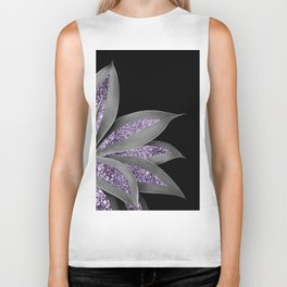 Agave Finesse Glitter Glam #3 #tropical #decor #art #society6 Biker Tank