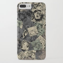 Ahegao camouflage iPhone Case