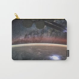 1677. Space Station Vista: Planet and Galaxy  Carry-All Pouch