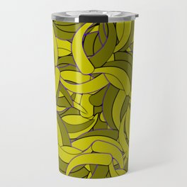 Dark Lemon Yellow Abstract Background Travel Mug