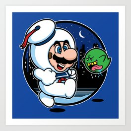 Super Marshmallow Bros. Art Print