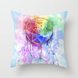 "dreamcatcher ""heavenly dream"" Throw Pillow"