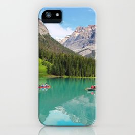 Boats on Emerald Lake iPhone Case