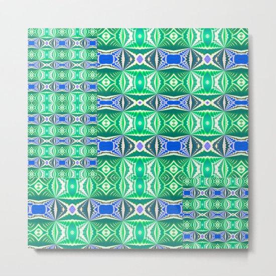 Green Mosaic Metal Print