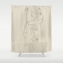 Portrait of a Woman (ca 1910) by Gustav Klimt Shower Curtain