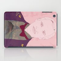 budapest hotel iPad Cases featuring The Grand Budapest Hotel II by Itxaso Beistegui Illustrations
