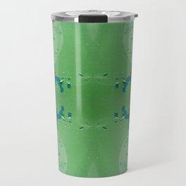 Green brown old cracked paint wall Travel Mug