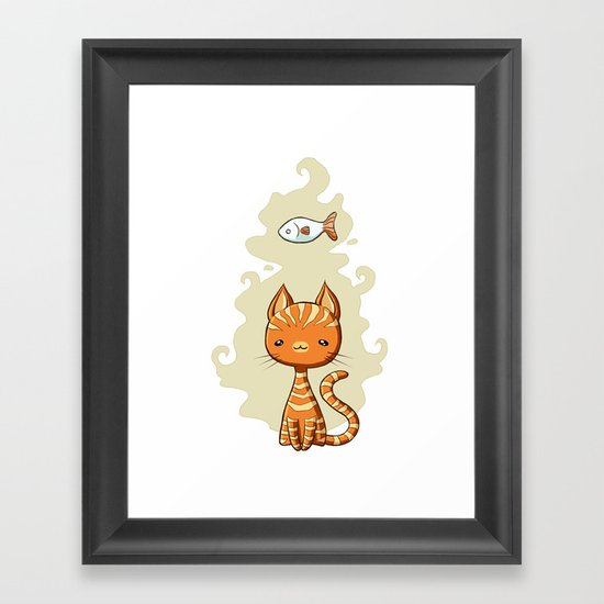 Ginger Cat Framed Art Print