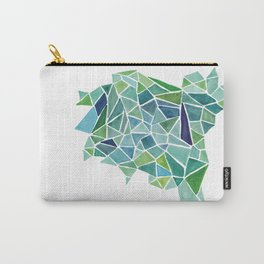 Fragments in Green Carry-All Pouch