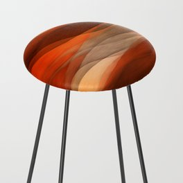 """""""Sea of sand and caramel waves"""" Counter Stool"""