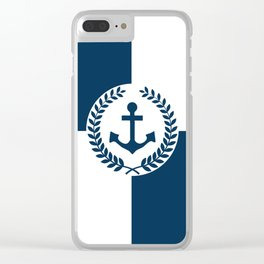 Nautical themed design Clear iPhone Case