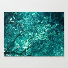 Sea of leaves Canvas Print