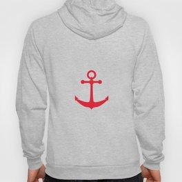 AFE Nautical Red Ship Anchor Hoody
