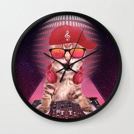 DJ cat Wall Clock