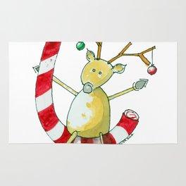 Merry Christmas Cane Rug