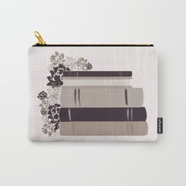 Neutral Book Stack Carry-All Pouch
