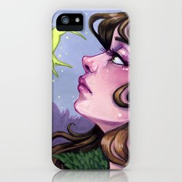 Dreams of Spring tiny gouache painting iPhone Case