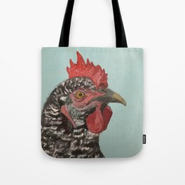 Plymouth Barred Rock Chicken Portrait Tote Bag