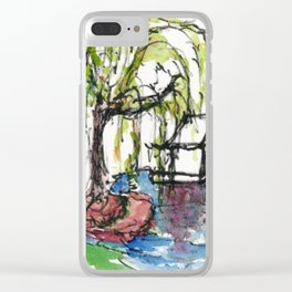 Willow Pond Clear iPhone Case