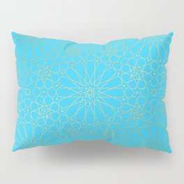 Moroccan Nights - Gold Teal Mandala Pattern - Mix & Match with Simplicity of Life Pillow Sham