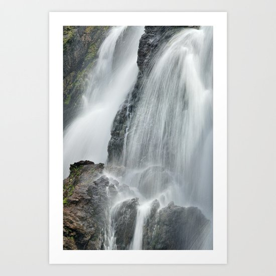 Waterfall in spring at the mountains Art Print