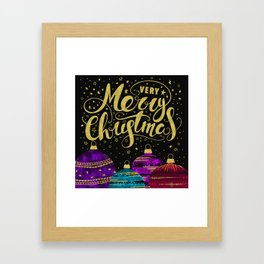 Christmas Greetings 4 Framed Art Print