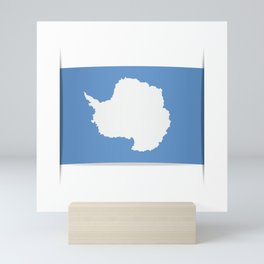 Flag of Antarctica. Vector illustration of a stylized flag. The slit in the paper with shadows. Mini Art Print