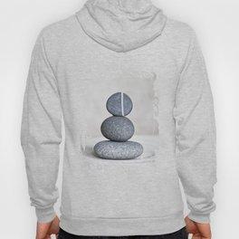 Zen cairn pebble stone balance grey Hoody
