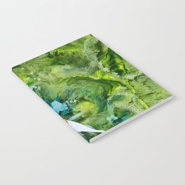 Goldfish on colorful background Notebook