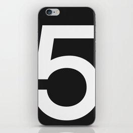 No. 5 — Black iPhone Skin