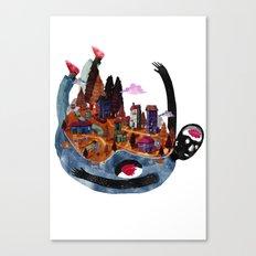 falling village Canvas Print