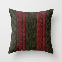 Cable Knit Stripe Throw Pillow