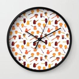 The long handle cezve coffee Wall Clock