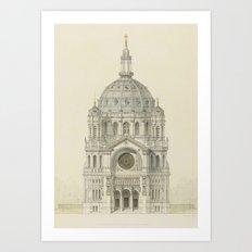 Church of St. Augustine Paris Art Print