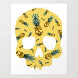 Skull Pineapple Y Art Print