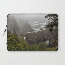 Fog Over Natural Bridges Laptop Sleeve