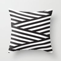 stripes Throw Pillows featuring Stripes by Dizzy Moments