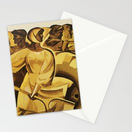 bread for us cccp sssr soviet union political propaganda revolution poster  Stationery Cards