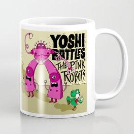 Yoshi Battles The Pink Robots Coffee Mug