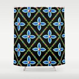 Elizabethan Lattice Shower Curtain