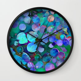 Colored Wood Pile 3 Wall Clock