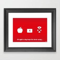 An apple a day keep the doctor away Framed Art Print