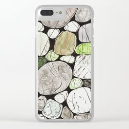 Classical Stones Pattern in High Format Clear iPhone Case