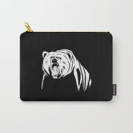 angry grizzly bear Carry-All Pouch