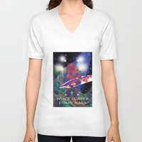 surfing V-neck T-shirts featuring surfing by jackybong629