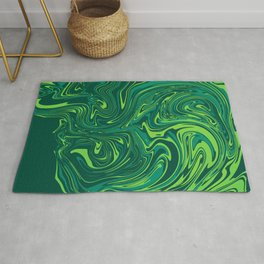 Toxic green mable Rug