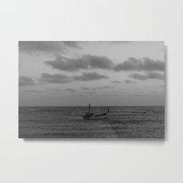 one man boat Metal Print